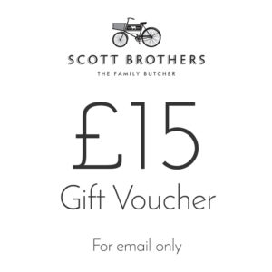 Scott Brothers Butchers £15 gift voucher