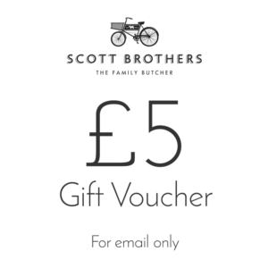 Scott Brothers Butchers £5 gift voucher